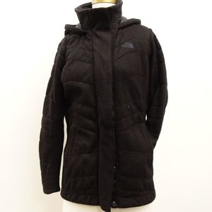 The North Face Womens Black Hooded Coat Sz M